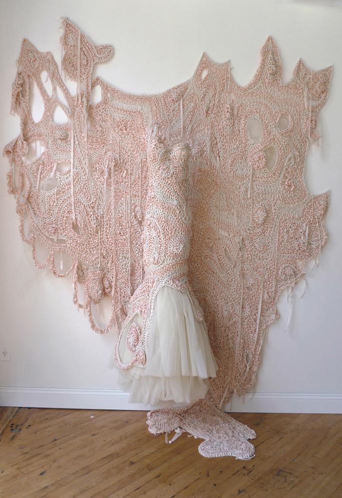 Julia Ramsey knitted wedding dress - Shortrounds Knitwear