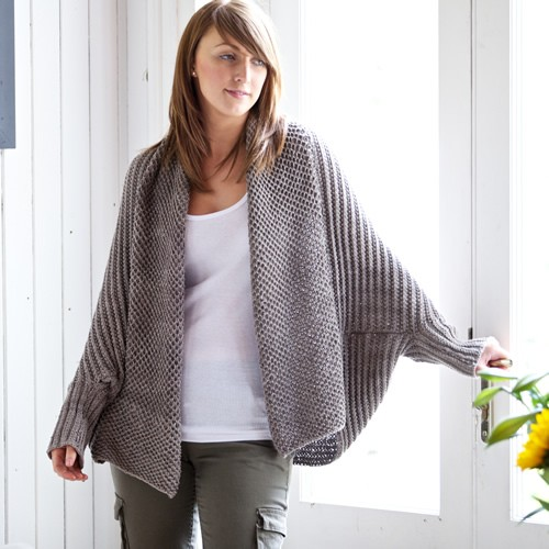 Jo Storie Chloe cardigan knitting pattern - Shortrounds Knitwear
