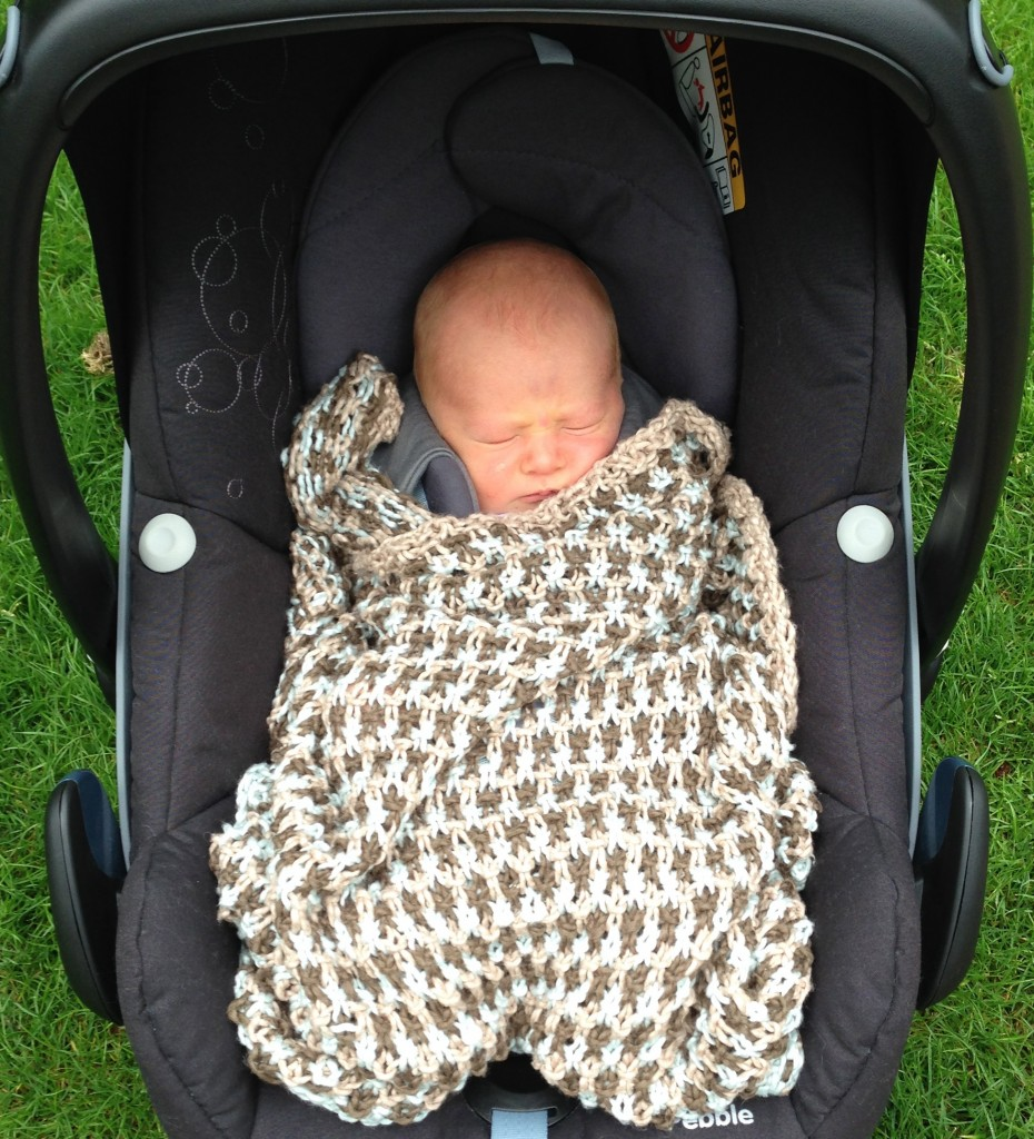 Toby's Pickles baby blanket - Shortrounds Knitwear