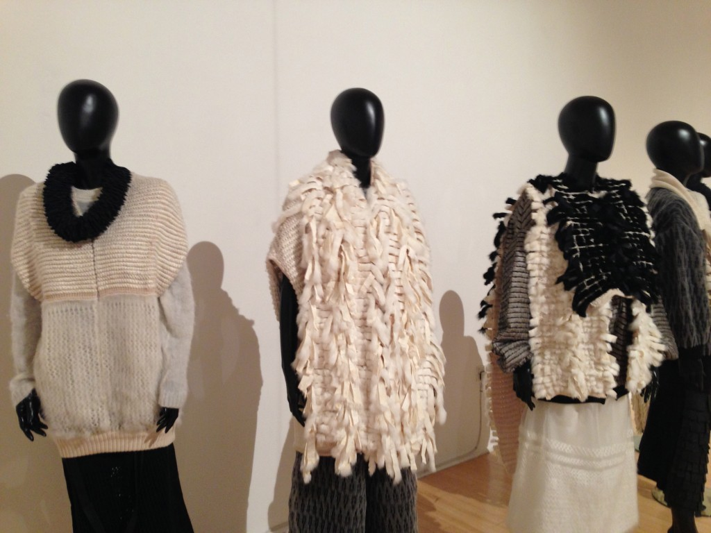 Nottingham Bonington gallery knitting exhibition - Shortrounds Knitwear