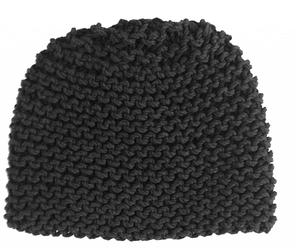 garter stitch beanie hat
