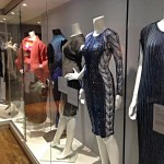 Visiting the Knitwear exhibition in London.