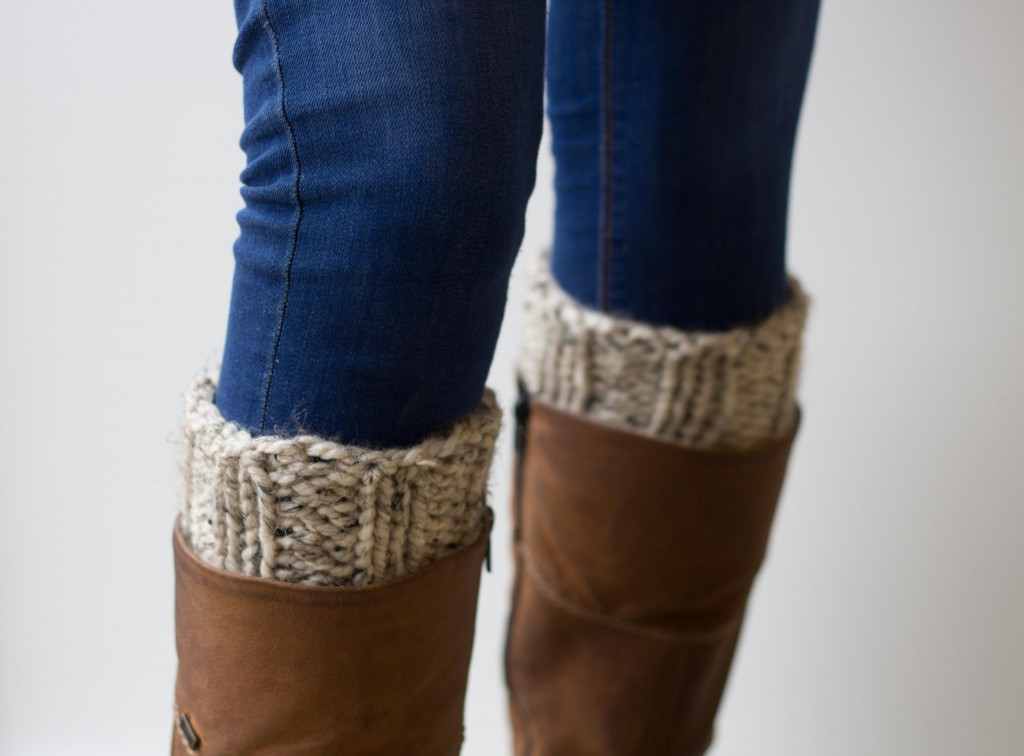 Chunky knit handmade boot cuffs in cream - Shortrounds Knitwear