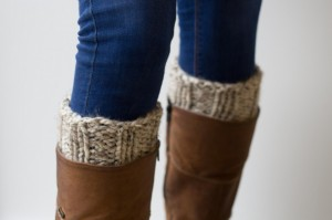 Cream chunky knit boot cuffs | Shortrounds Knitwear