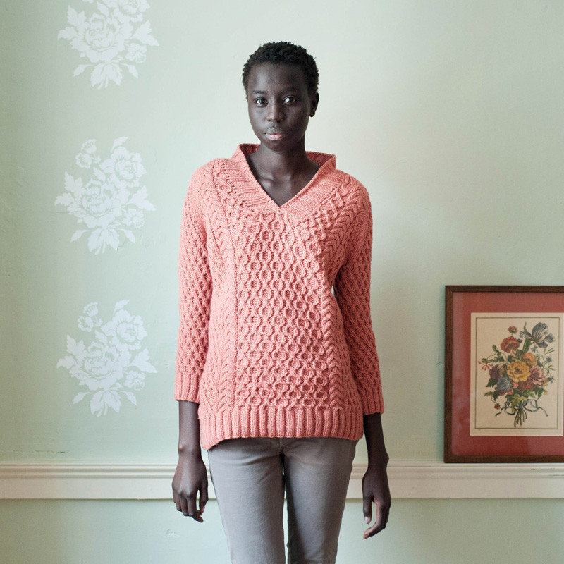 Quince & Co. Honeymaker pattern - Shortrounds Knitwear