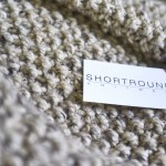 Shortrounds knitwear on seed stitch blanket | Shortrounds Knitwear