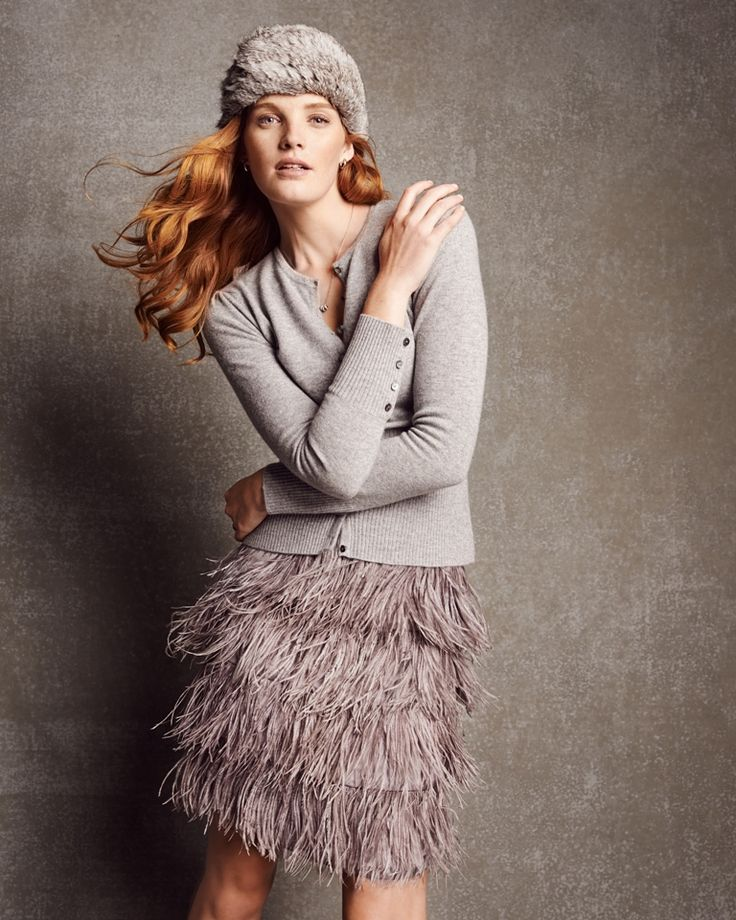 Fringe skirt jumper - AW15 trends - Shortrounds Knitwear