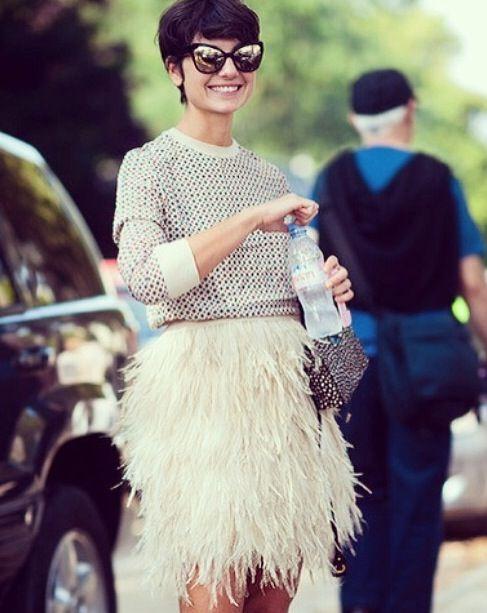Fringe skirt jumper - AW15 trends - Shortrounds Knitwear