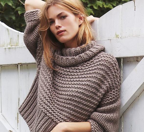 Free People Split Turtleneck pullover - Shortrounds Knitwear