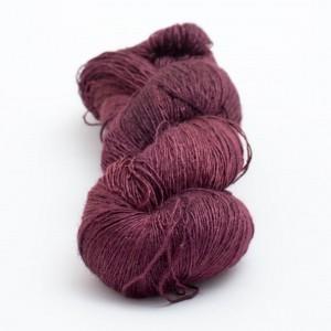 DyeForYarn Tussah Silk Lace in Blood Violet - Shortrounds Knitwear