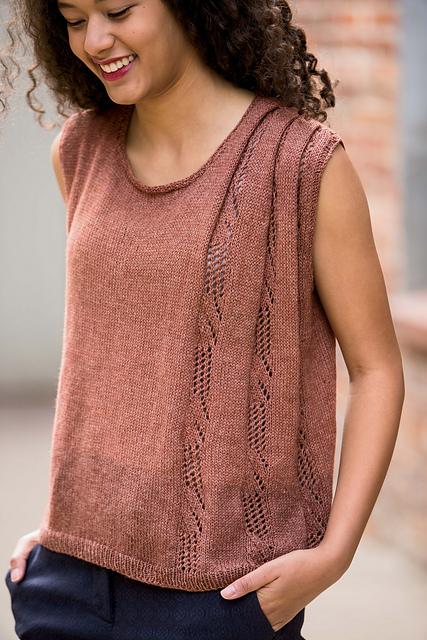 Folded Lace Tank by Bristol Ivy - Shortrounds Knitwear