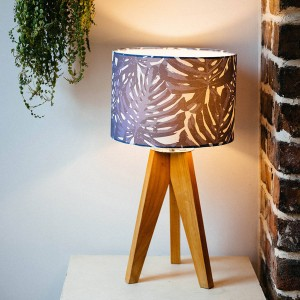 Original Navy Blue Palmy Handmade Lampshade by Figo Home - Shortrounds Knitwear