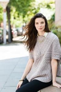 Cusp poncho by Olga Buraya-Kefelian for Brooklyn Tweed Capsule collection