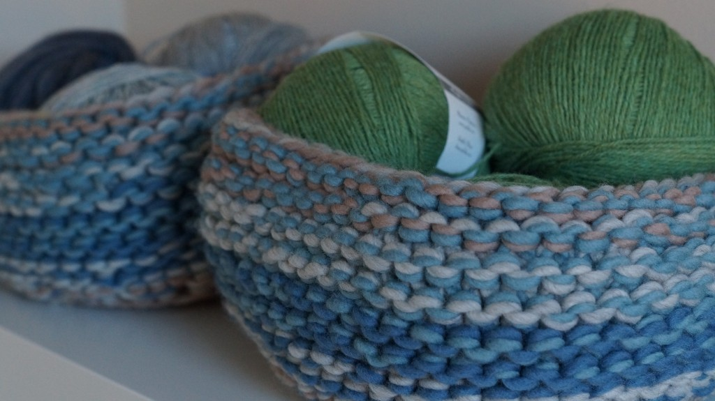 Knitting stash - Quince & Co. Tai Baskets | Shortrounds Knitwear