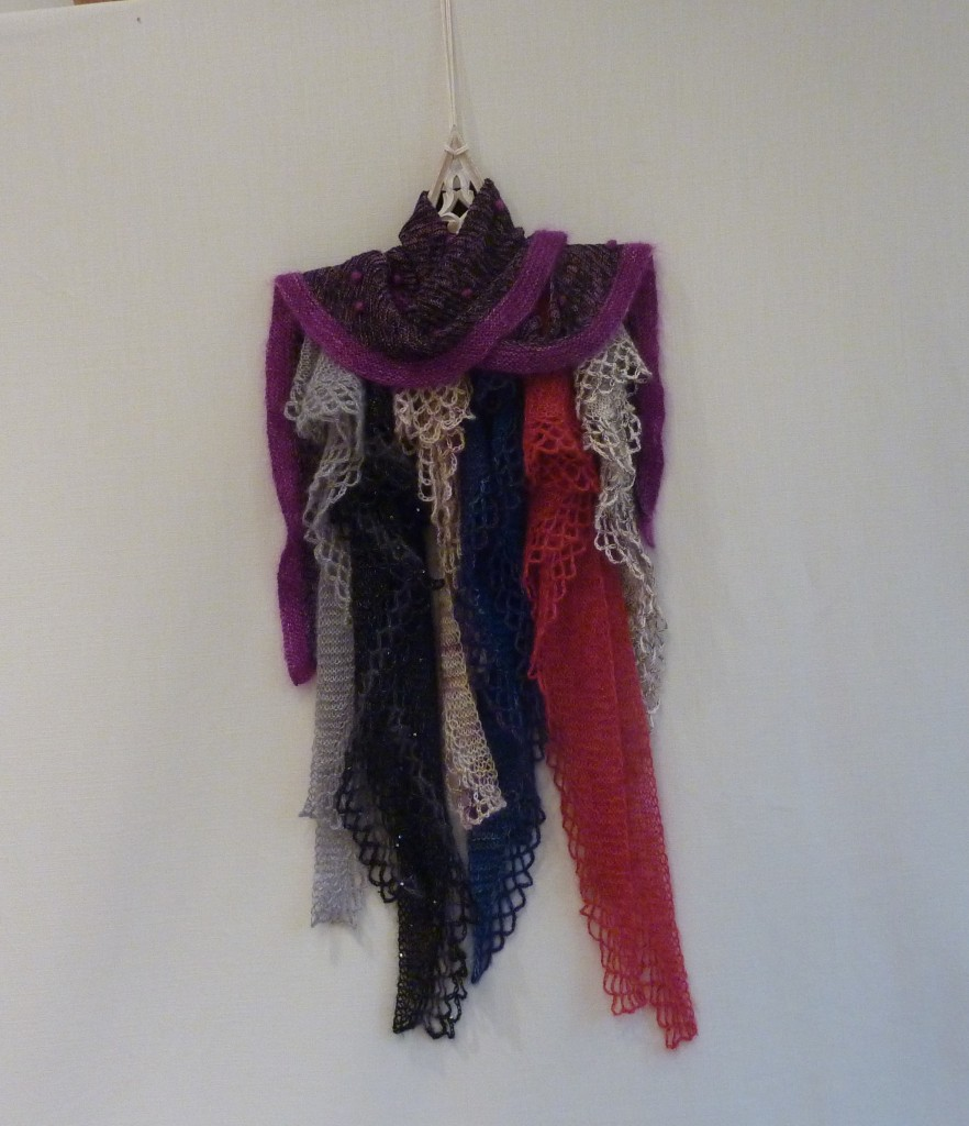 Assorted Fishtail mohair and silk shawls and scarves | Shortrounds Knitwear
