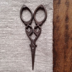 Yozo scissors antique style fancy | Shortrounds Knitwear
