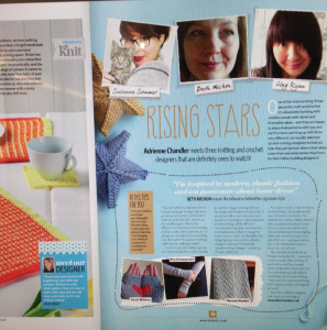 Rising Stars in Let's Knit magazine April 2016 | Shortrounds Knitwear