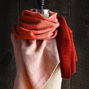 Cashmere Ombre Wrap by Purl Soho now in Vermillion colourway | Shortrounds Knitwear