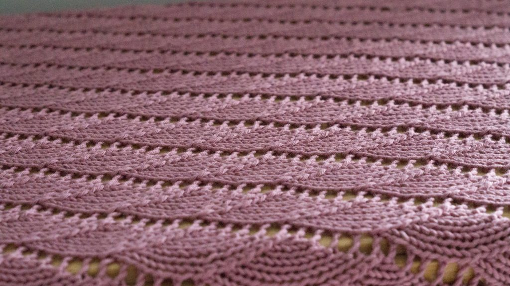 Spindrift baby blanket knitting pattern   Shortrounds Knitwear