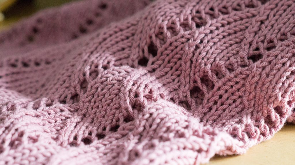Spindrift baby blanket knitting pattern | Shortrounds Knitwear
