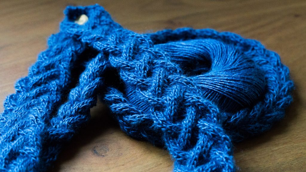 Cable braided necklaces in Rowan Fine Silk | Shortrounds Knitwear
