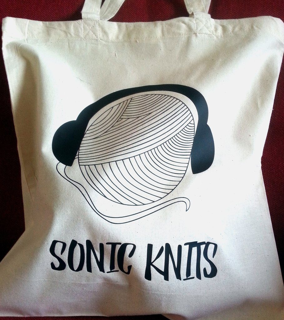 Sonic Knits Tote Bag | Shortrounds Knitwear