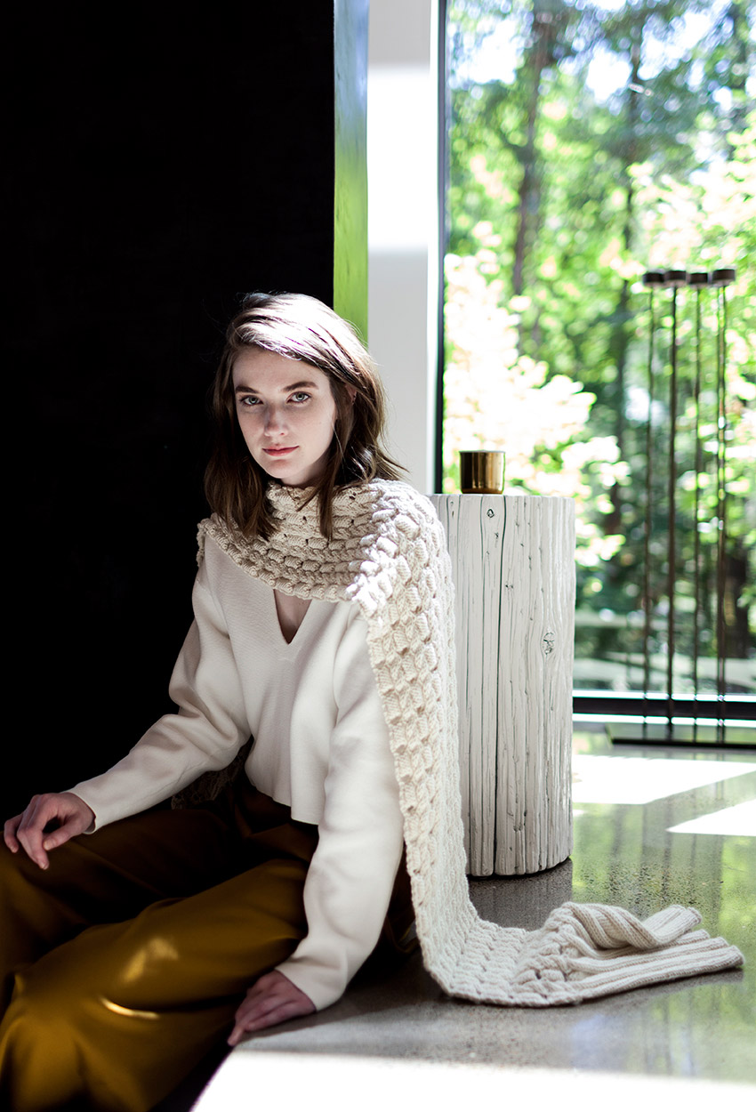 Arkade scarf & cowl - Woolfolk TOV Collection | Shortrounds Knitwear