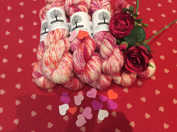 Elm Tree yarns 4 ply in Love Hearts | Shortrounds Knitwear