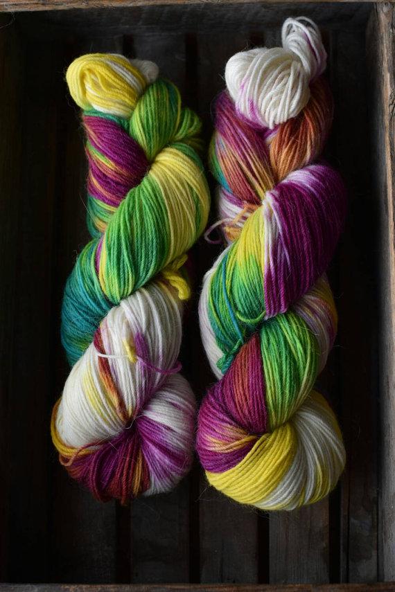 A Knit Away Sock in Hippie   Shortrounds Knitwear