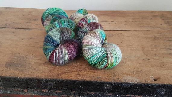 Suzy Parker Yarns Merino Singles in Peacock Dance | Shortrounds Knitwear